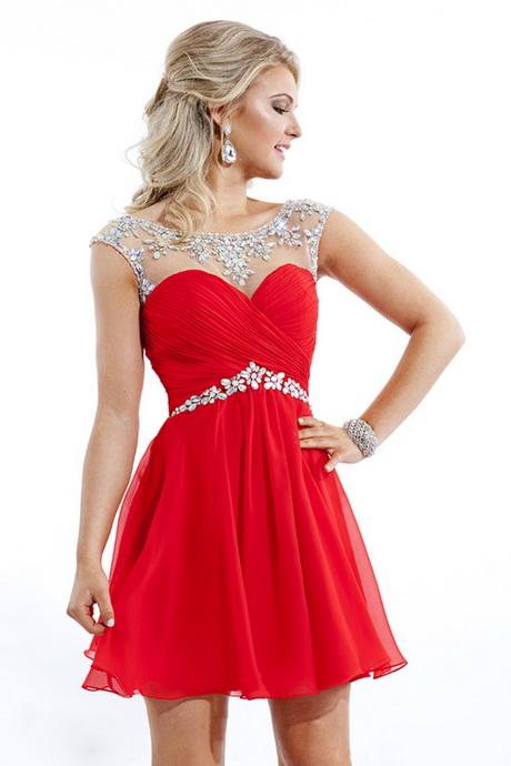 vestido de moda rojo corto