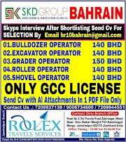 BHARAIN JOBS : REQUIRED FOR SKD GROUP OF COMPANY IN BAHRAIN .g