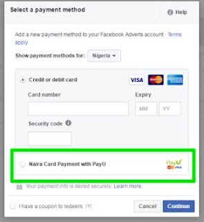 You Can Now Pay For FaceBook Ads in Naira Using PayU NG