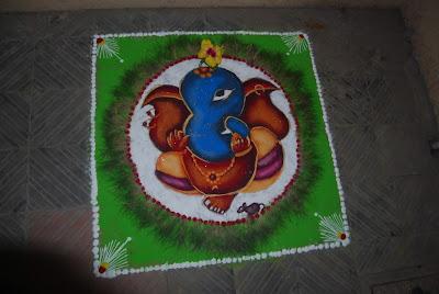 Rangolis for Ganesh Festival