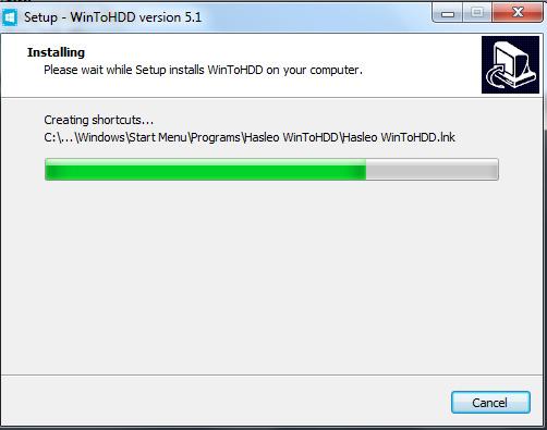 Hướng dẫn cài đặt phần mềm WinToHDD đơn giản g