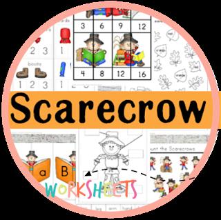 scarecrow kindergarten worksheets