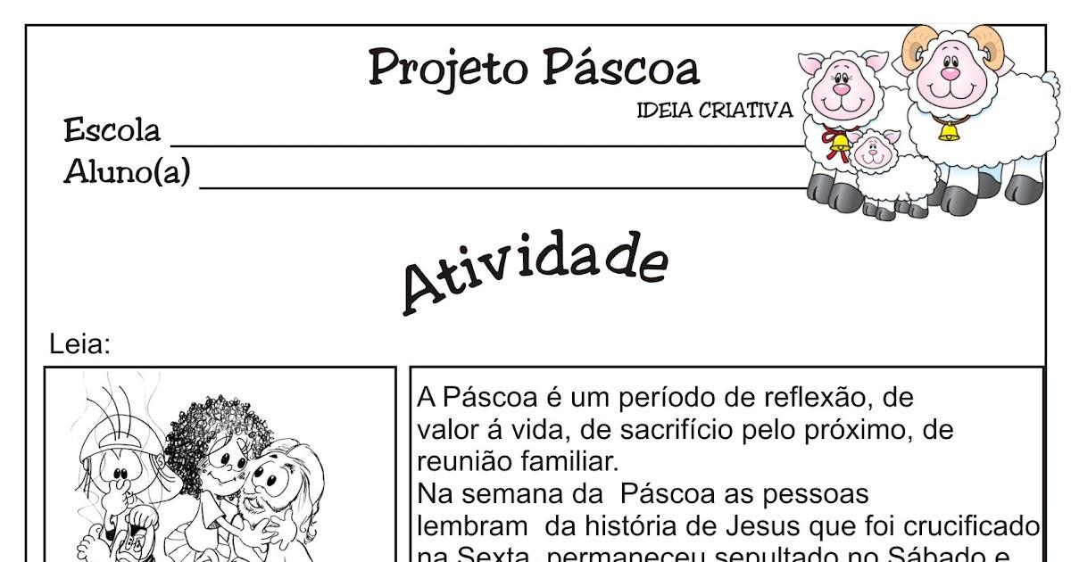 Atividade Projeto Páscoa Tonicidade 4º E 5º Ano