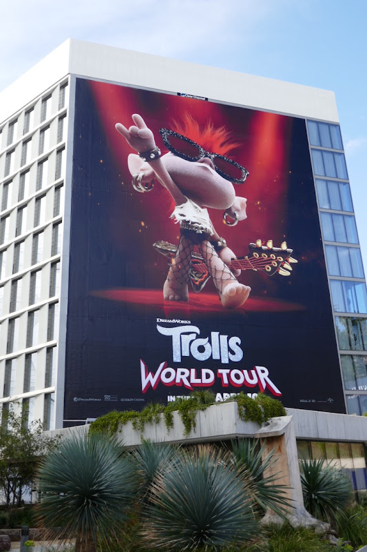 Giant Queen Barb Trolls World Tour movie billboard