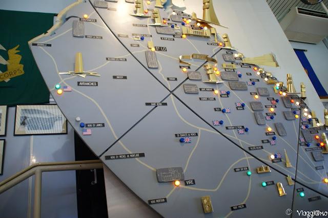 Interno del Museo dello Sbarco di Arromanches