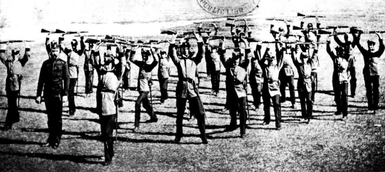 1898 New South Wales Cadets: Cadets at Drill