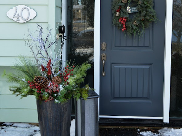 How To Make Festive Christmas Planters With Faux Greens
