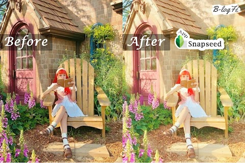 แต่งรูปโทนสดใสฟุ้งๆ นั่งชิลๆท่ามกลางทุ่งหญ้าและธรรมชาติ | Snapseed