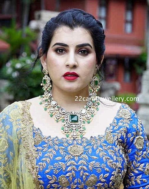 Archana Polki Necklace with Earrings