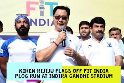 Kiren Rijiju flags off Fit India Plog Run at Indira Gandhi Stadium