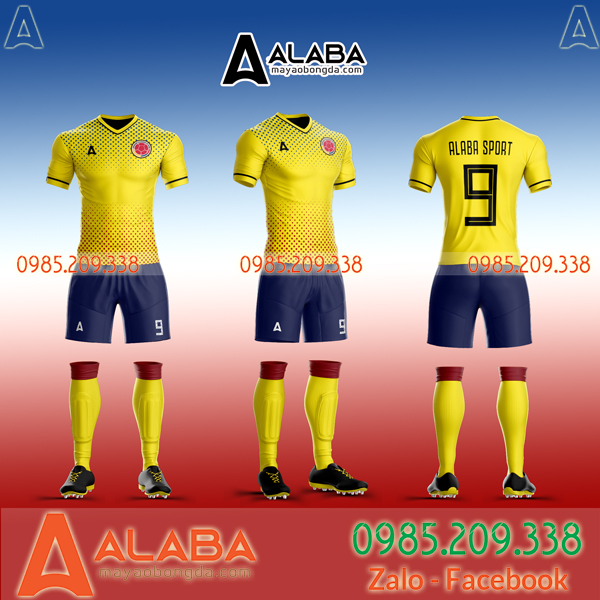 May áo bóng đá Colombia theo yêu cầu