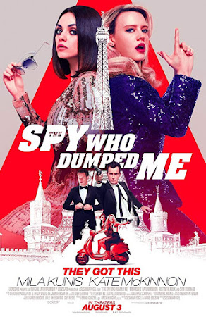 Poster Of The Spy Who Dumped Me In Dual Audio Hindi English 300MB Compressed Small Size Pc Movie Free Download Only At worldfree4u.com