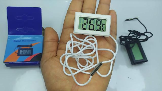 ترمومتر رقمي مع مسبار بسلك 1 متر و شاشة - Digital LCD Thermometer Precision With Probe 1M Wire