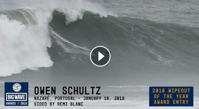 Owen Schultz at Nazaré - 2018 Wipeout of the Year Award Entry - WSL Big Wave Awards