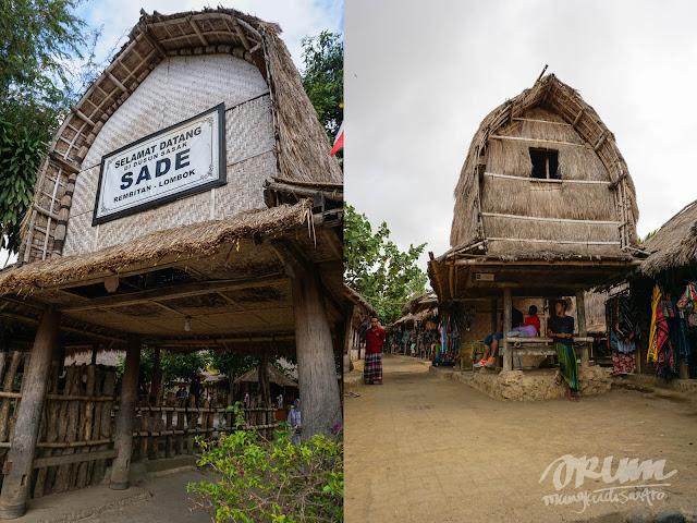 Gerbang masuk Dusun Sade, Lombok, Nusa Tenggara Barat