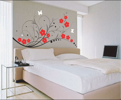 Vinilos adhesivos para dormitorios vinyl decal bedroom for Vinilos para pared habitacion matrimonio