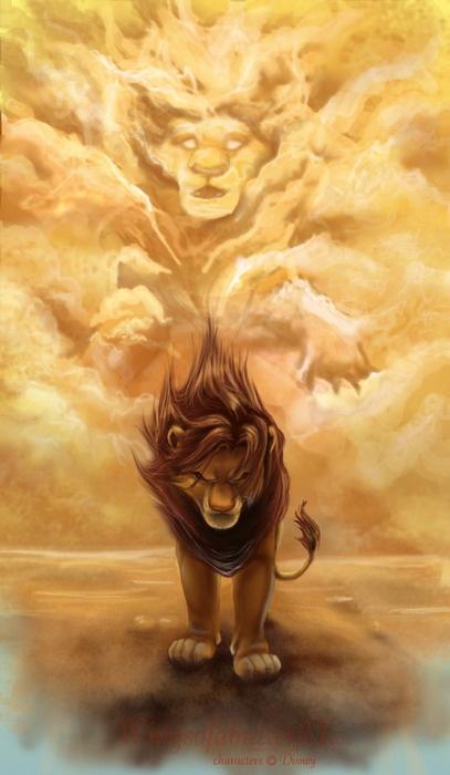 Simba beneath a cloud The Lion King 1994 animatedfilmreviews.filminspector.com