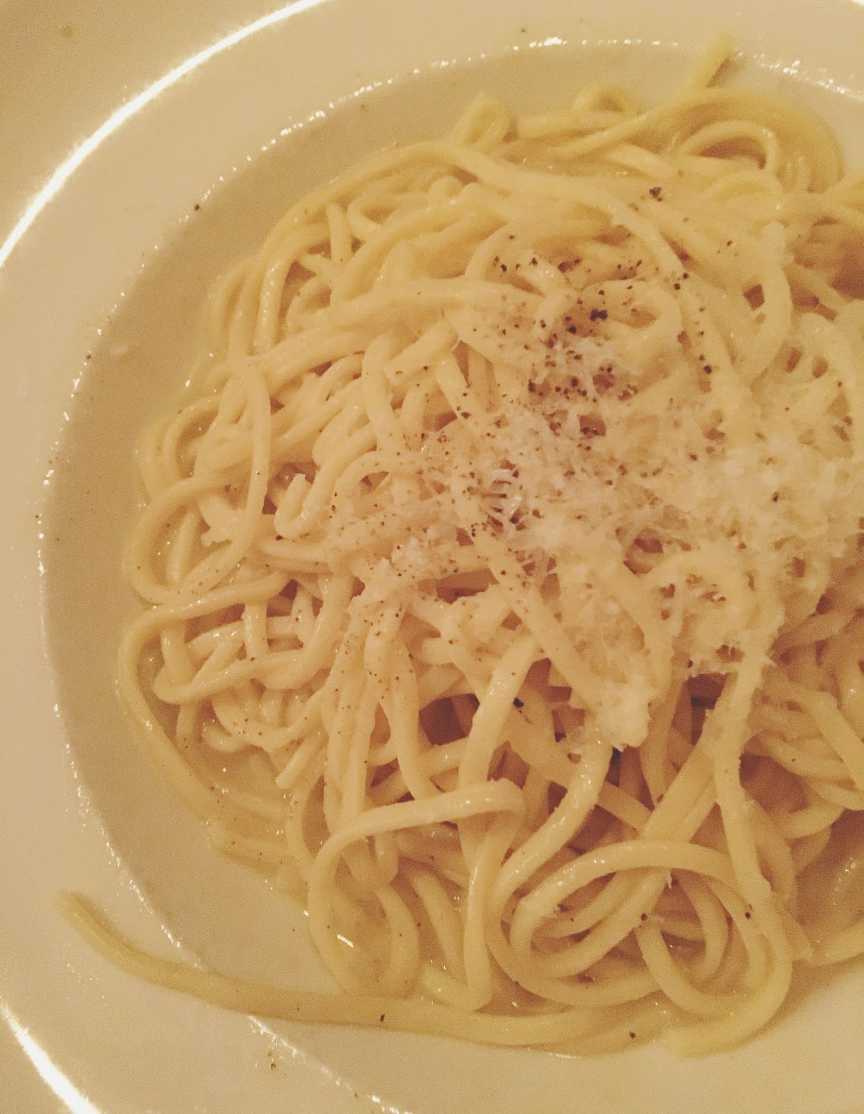 cacio e pepe at Treva - a restaurant in West Hartford, Connecticut