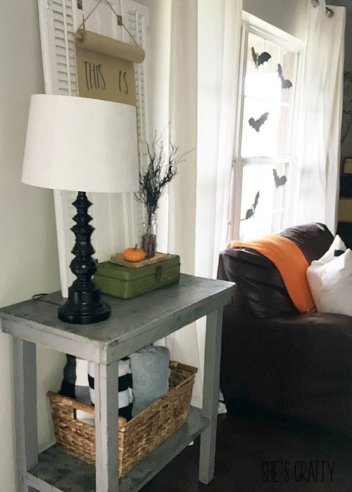 Halloween home decor, paper scroll, how to add Halloween Charm to your every day home decor