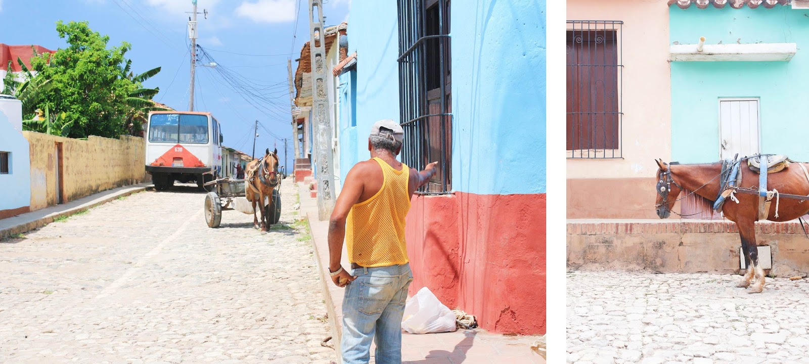 Un homme et son cheval, Trinidad - Cuba