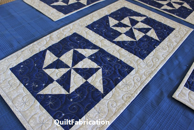 Holiday Star snowflake runner by QuiltFabrication