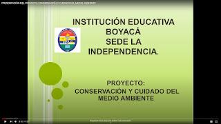 Proyecto de cuidado y conservación del medio ambiente