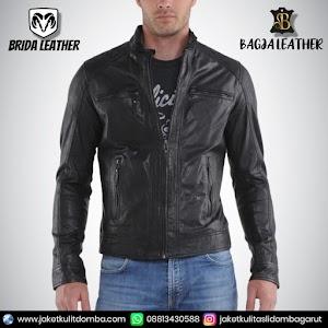 Jual Jaket Kulit Asli Garut Pria Domba Original Brida Leather B62 | WA 08813430588