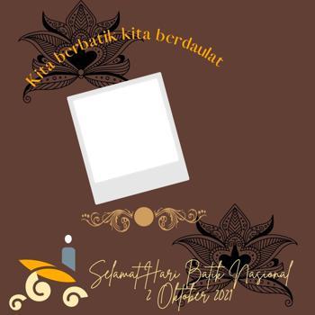 Twibbon Gambar Bingkai Foto Hari Batik Nasional 2021