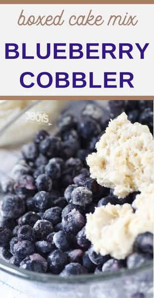 Blueberry Cobbler made with Cake Mix Recipe