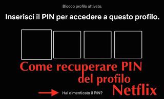 come recuperare pin profilo netflix dimenticato con procedura di recupero