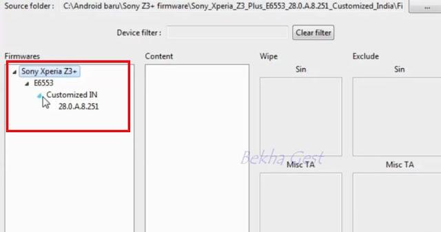 Cara Hapus Pola kunci Layar Sony Xperia Z3 Plus (E6553) Via Flashing | Firmware Unlock Sony Z3 plus