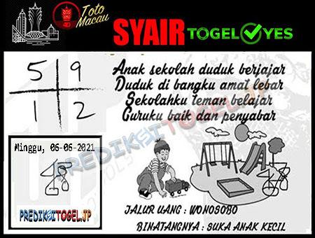 Syair Togel Yes Macau Minggu