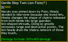 naruto castle defense 6.4 Gentle Step Twin Lion Fists detail