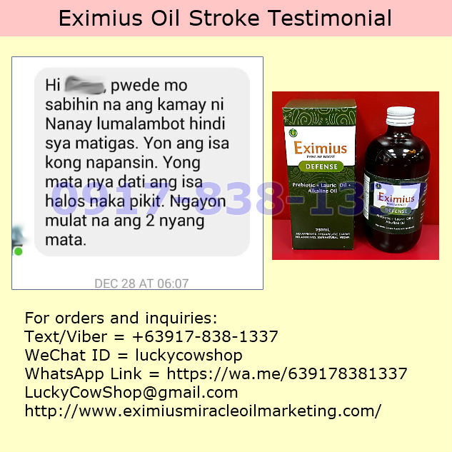 Eximius Oil Stroke Patient Improvement