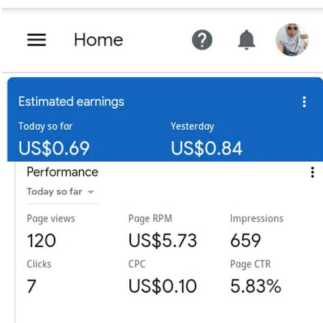 RPM adsense, adsense meningkat, earning adsense