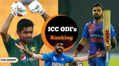ICC ODI's Live Ranking
