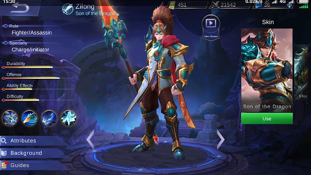 Cara Memakai dan Build Item Hero Zilong Mobile Legends