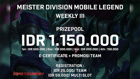 Turnamen Mobile Legends – Meister Division Weekly 3