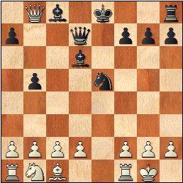 Partida de ajedrez Esteve Puig i Puig - José María Baquero Vidal (1905), posición después de 11...Ad6