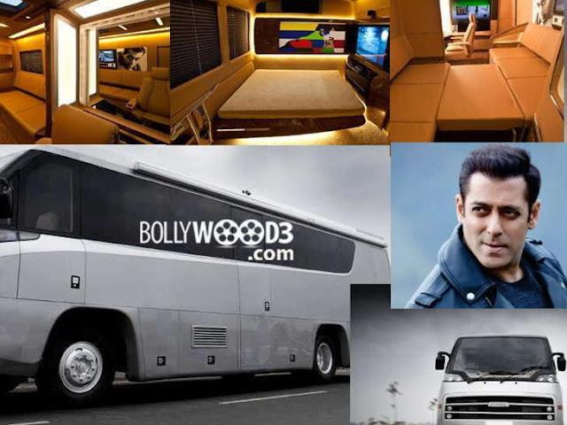सलमान खान की लग्जीरियस वैनिटी वैन में है मेकअप और स्टडी रूम, भारत के प्रोड्यूसर ने शेयर किए फोटो