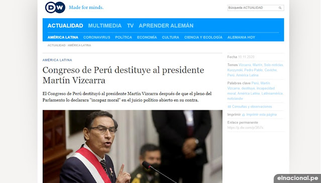 Deutsche Welle vacancia Martín Vizcarra