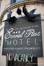 Eternal Rest Haunted Hotel Halloween Front Entrance