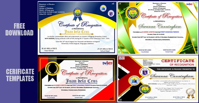 Beautiful Certificate Templates for Recognition