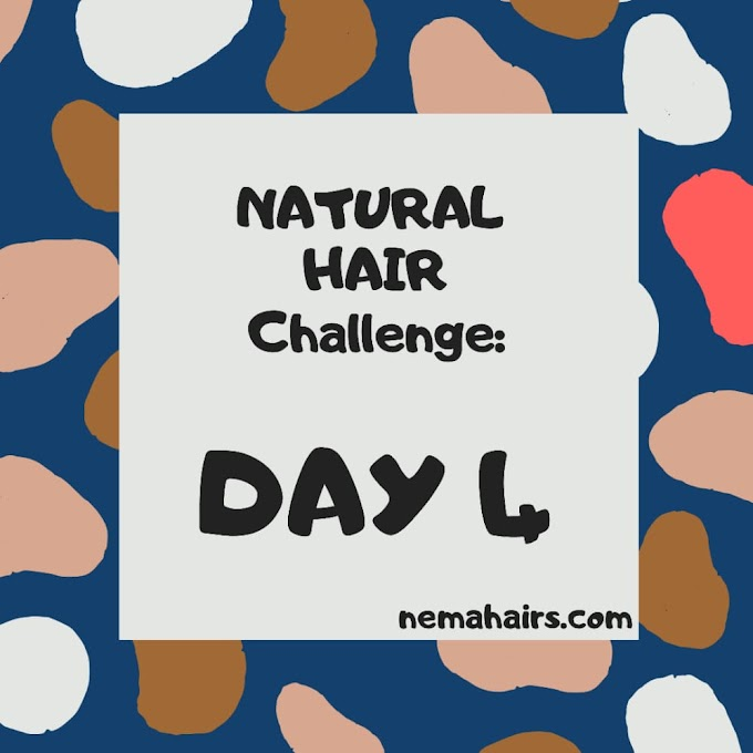 NATURAL HAIR CHALLENGE : DAY 4