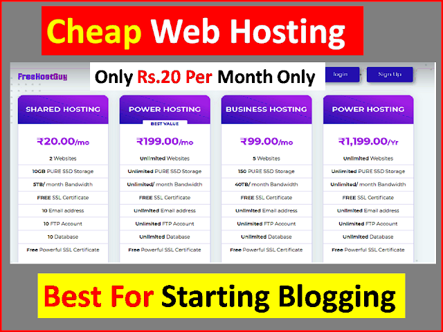 Cheap Hosting | WordPress Cheap Hosting Starting From Rs.20 Only