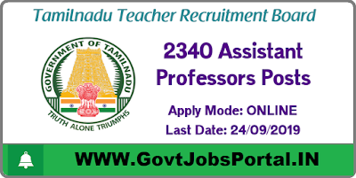 Teacher Recruitment Board Vacancy - Govt Jobs in Tamil Nadu for 2340 Assistant Professor Posts