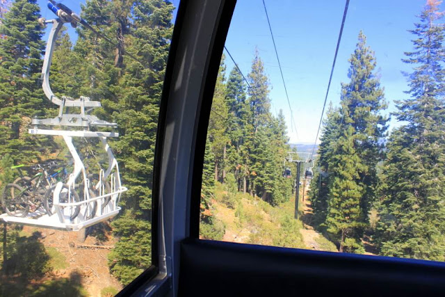 Ski lift gondolas at Northstar