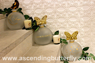 @Sniffapalooza @AnnickGoutalUS Night Birds Holiday Celebration! #Scent #Perfume #Luxury #Fragrance #HolidayParty, large butterfly perfume bottles