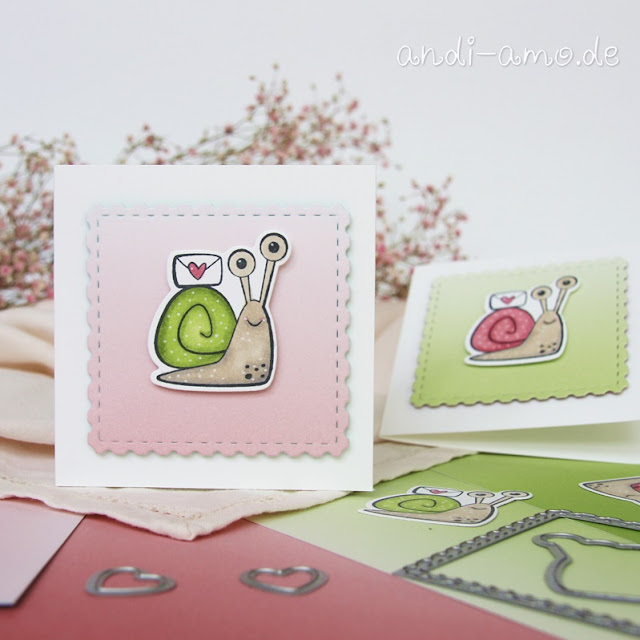 Minikarten mit Schneckenpost von Stampin Up