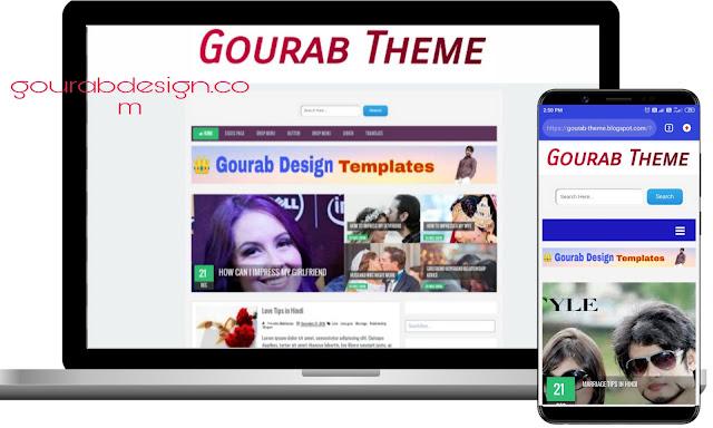 gourab theme responsive blogger template